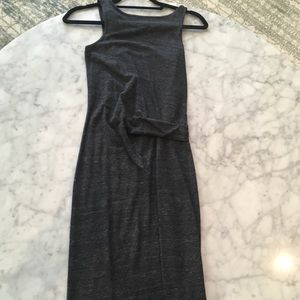 Alternative Dresses - Dark Gray Maxi Dress